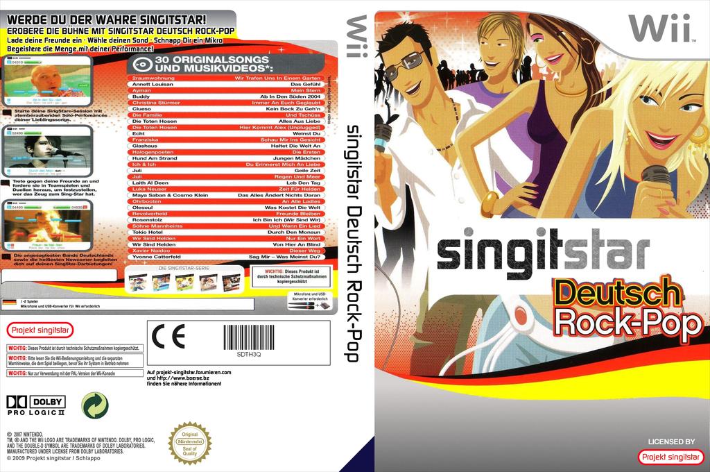 SingItStar Deutsch Rock-Pop Vol. 1 Wii coverfullHQ (SDRP3Q)