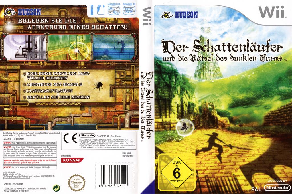 Der Schattenläufer und die Rätsel des dunklen Turms Wii coverfullHQ (SDWP18)