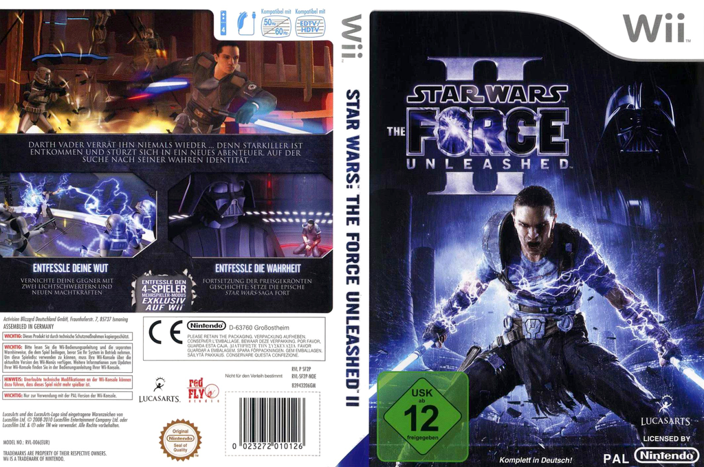 Star Wars: The Force Unleashed II Wii coverfullHQ (SF2P64)