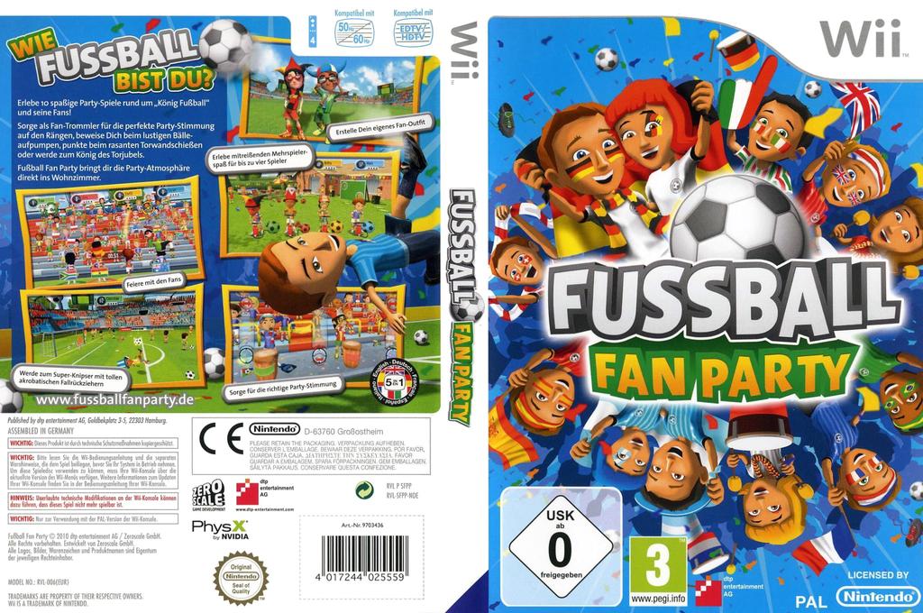 Fussball Fan Party Wii coverfullHQ (SFPPFR)