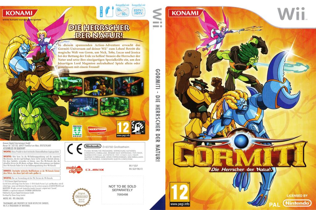 Gormiti:Die Herrscher der Natur! Wii coverfullHQ (SGLPA4)
