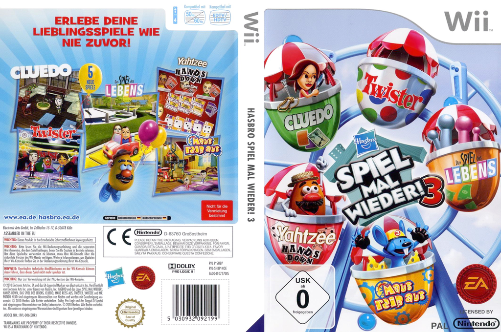 Hasbro: Spiel mal wieder 3 Wii coverfullHQ (SHBP69)