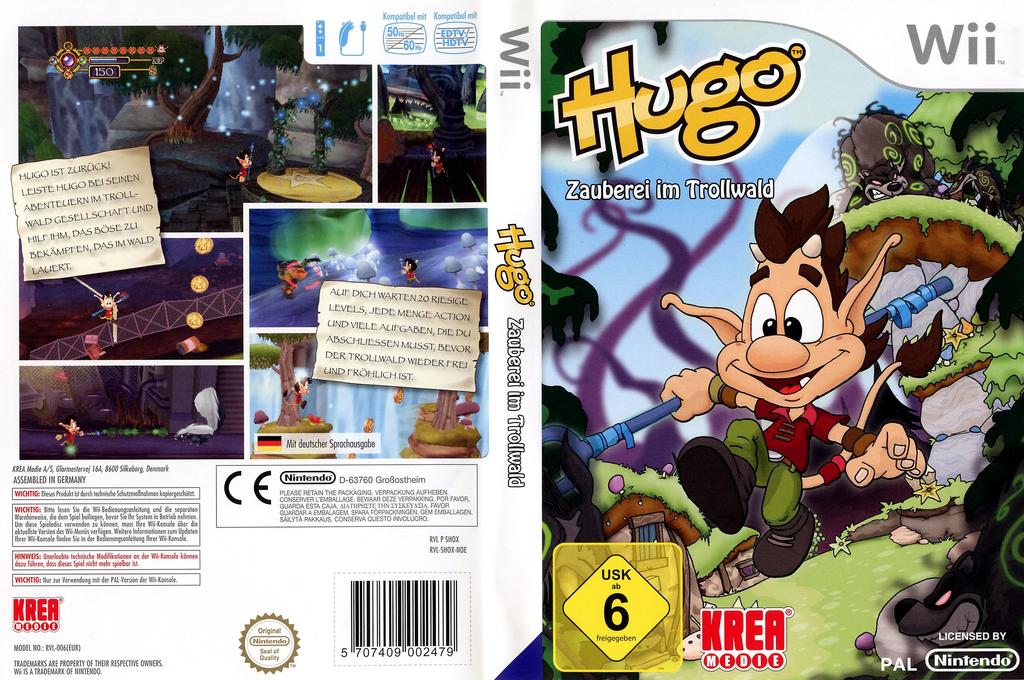 Hugo - Zauberei im Trollwald Wii coverfullHQ (SHOXKR)