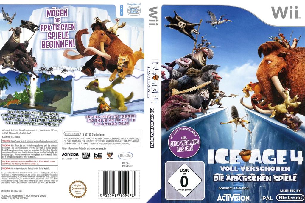 Ice Age 4:Voll Verschoben - Die Arktischen Spiele Wii coverfullHQ (SIAP52)