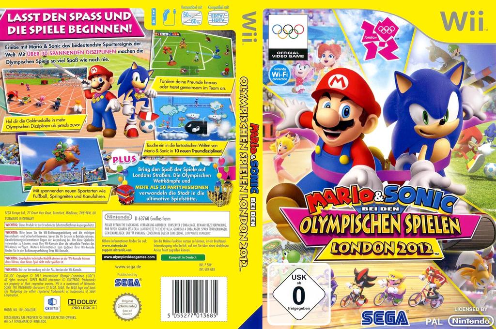 Mario & Sonic bei den Olympischen Spielen London 2012 Array coverfullHQ (SIIP8P)