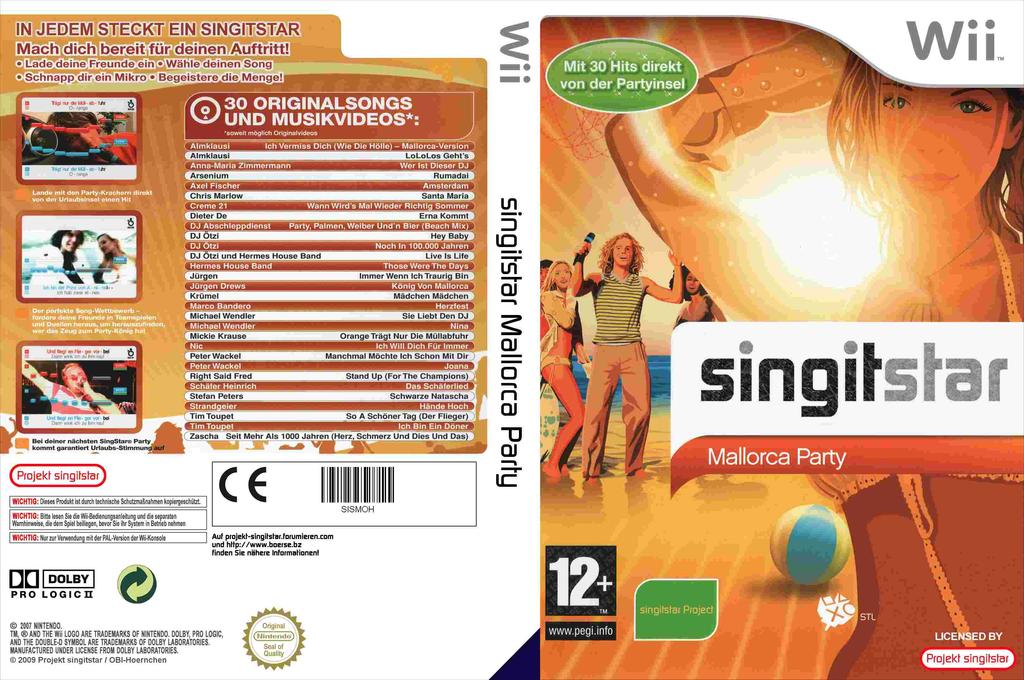 SingItStar Mallorca Party Wii coverfullHQ (SISMOH)