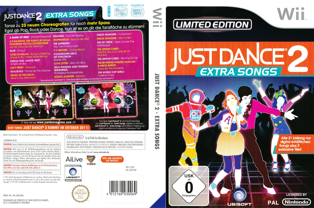 Just Dance 2: Extra Songs Wii coverfullHQ (SJ9P41)