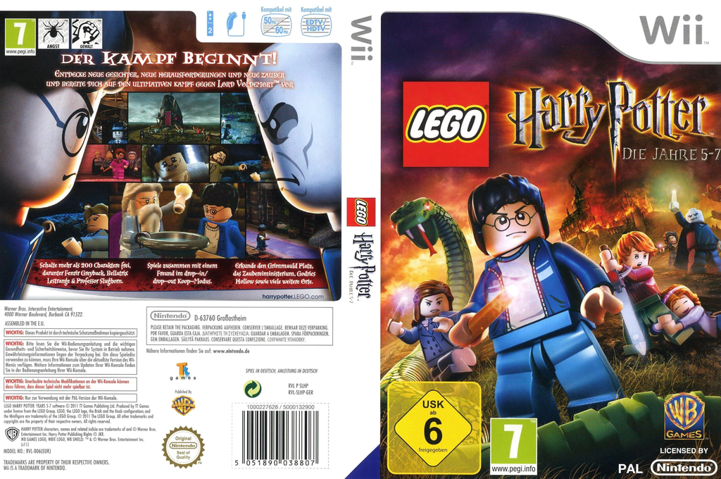 LEGO Harry Potter: Die Jahre 5-7 Wii coverfullHQ (SLHPWR)
