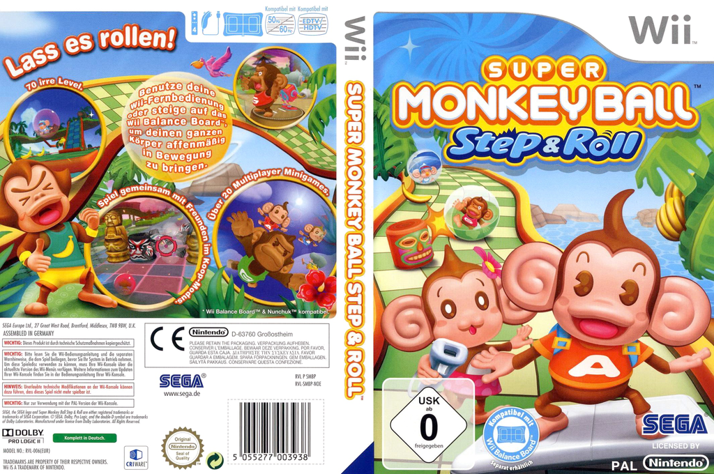Super Monkey Ball: Step & Roll Wii coverfullHQ (SMBP8P)