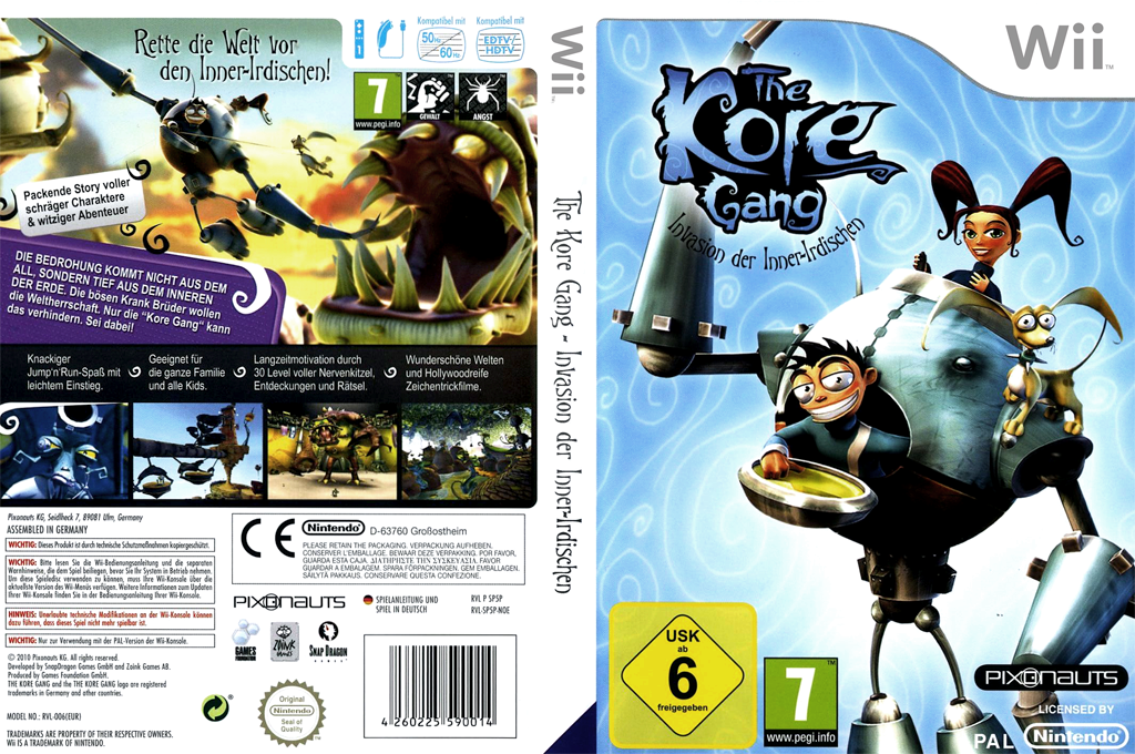 The Kore Gang: Invasion der Inner-Irdischen Wii coverfullHQ (SP5PVV)