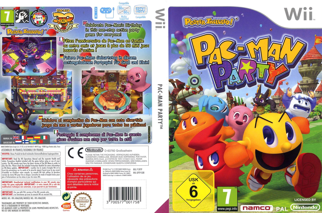 Pac-Man Party Wii coverfullHQ (SP7PAF)