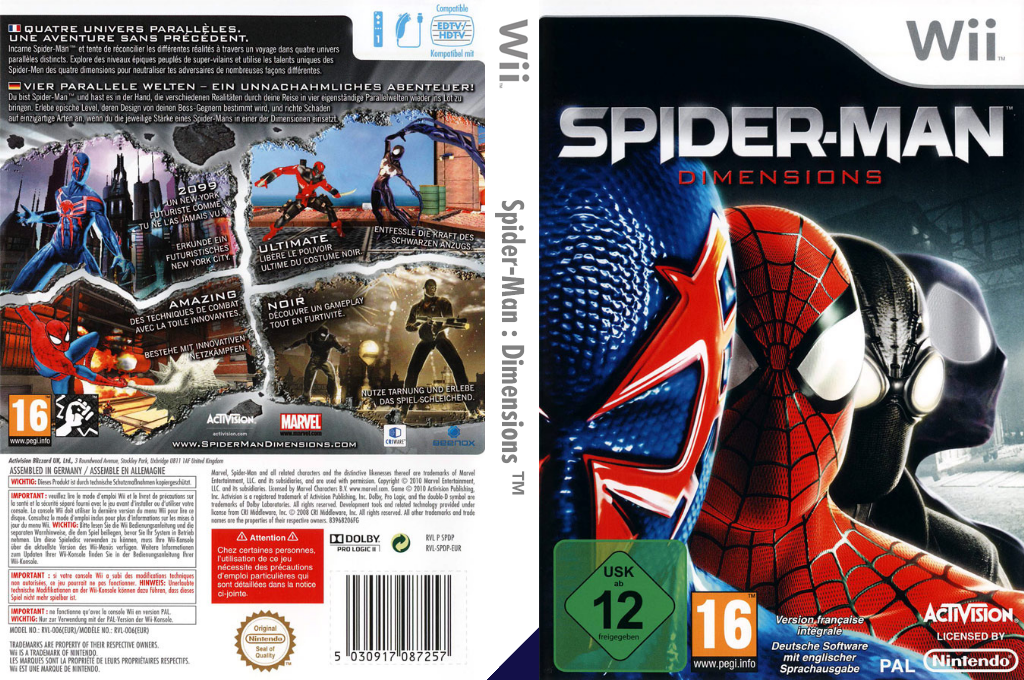Spider-Man: Dimensions Wii coverfullHQ (SPDP52)