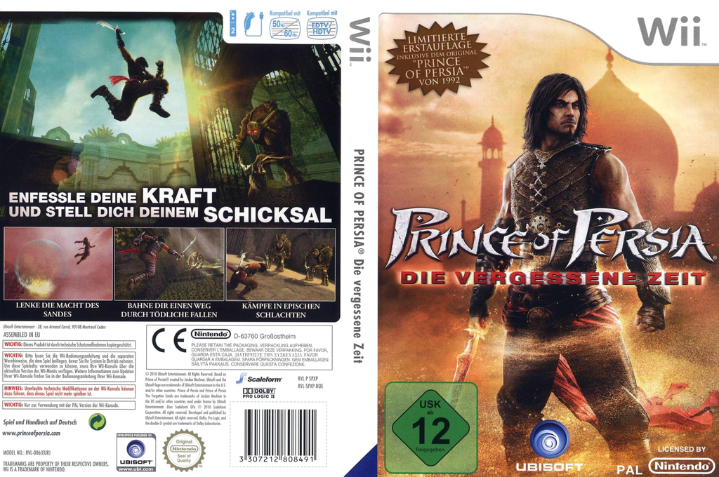 Prince of Persia: Die Vergessene Zeit Wii coverfullHQ (SPXP41)