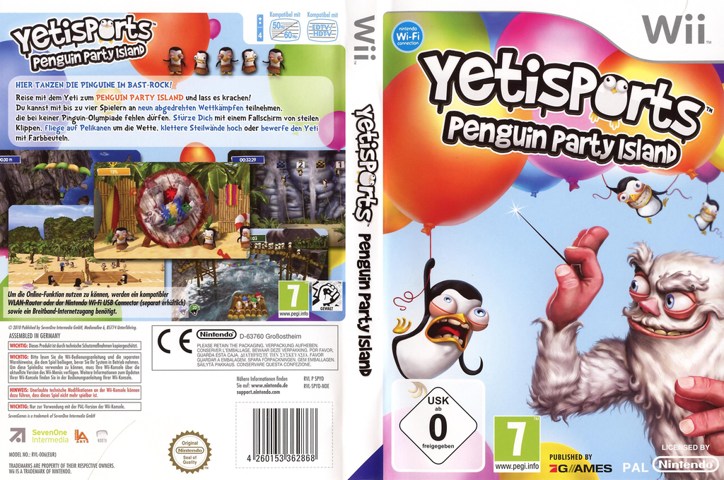 Yetisports: Penguin Party Island Wii coverfullHQ (SPYDSV)