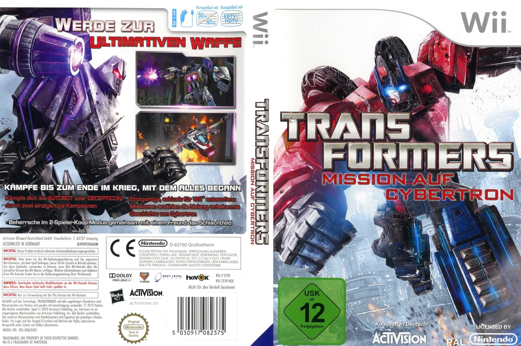 Transformers: Mission auf Cybertron Wii coverfullHQ (ST5P52)
