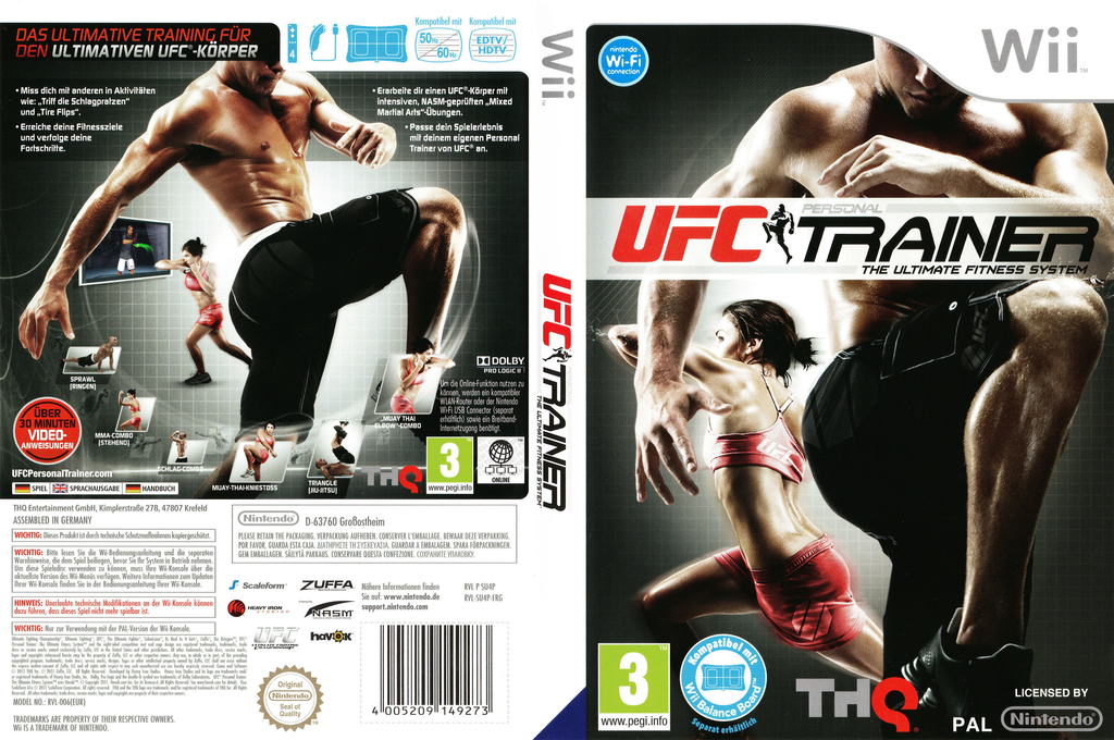 UFC Personal Trainer: The Ultimate Fitness System Wii coverfullHQ (SU4P78)