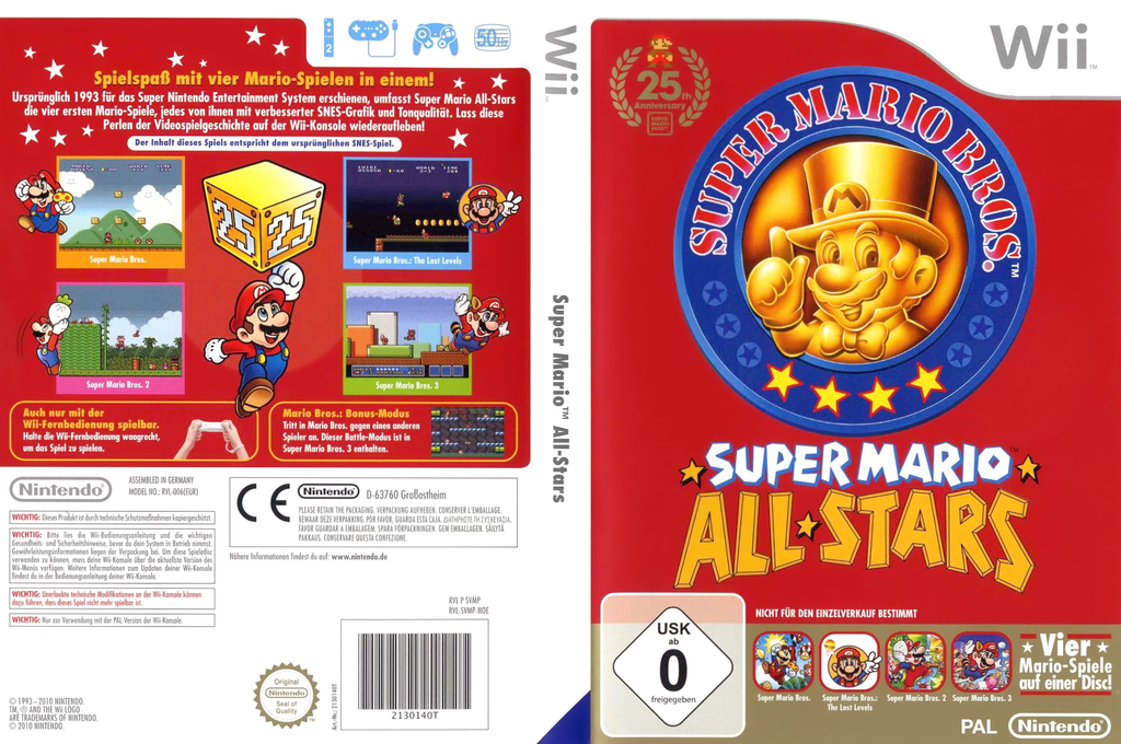 Super Mario All-Stars: 25 Jahre Jubiläumsedition Wii coverfullHQ (SVMP01)