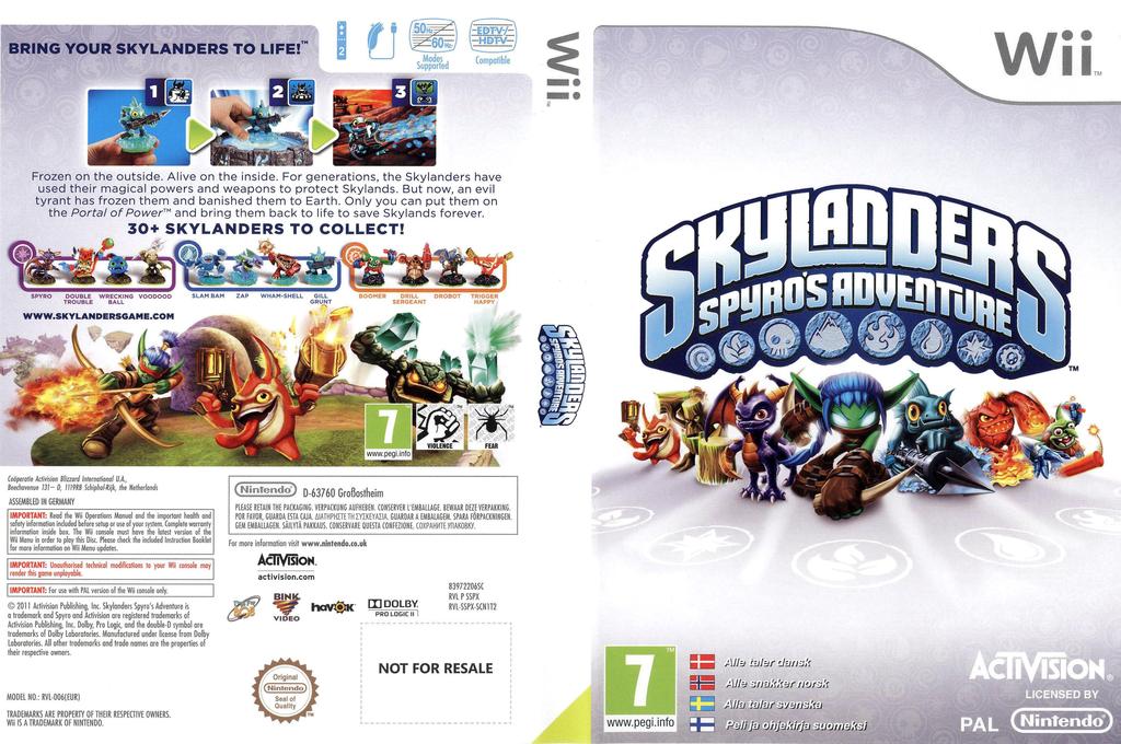 Skylanders: Spyro's Adventure Wii coverfullHQ (SSPX52)