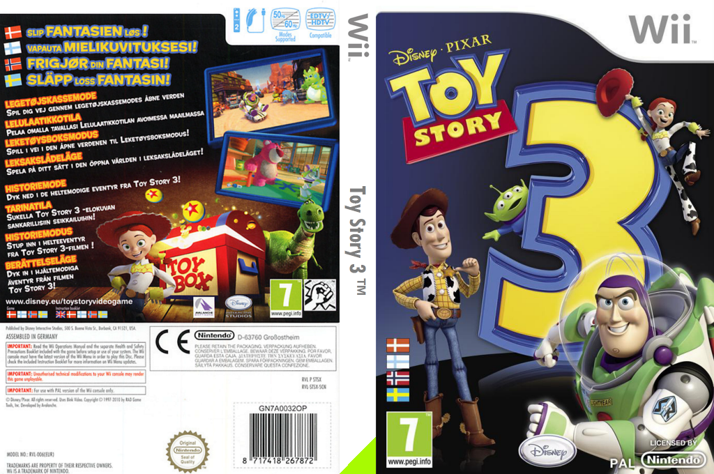Toy Story 3 Wii coverfullHQ (STSX4Q)