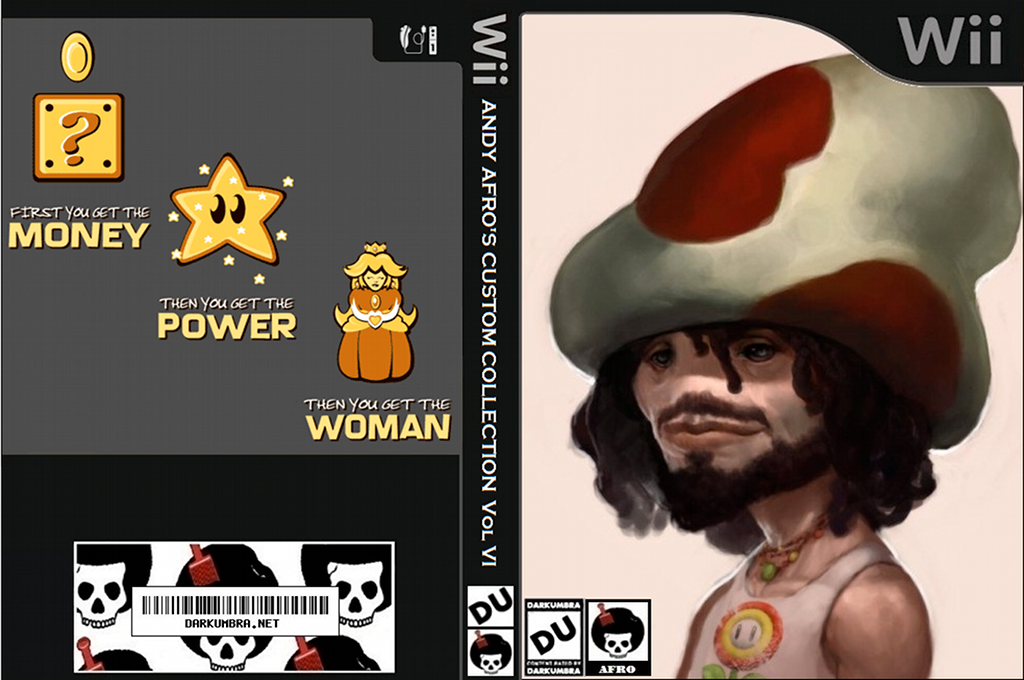 New Super Mario Bros. Wii ANDY AFRO'S Custom Collection Volume 6. Wii coverfullHQ (APRP03)