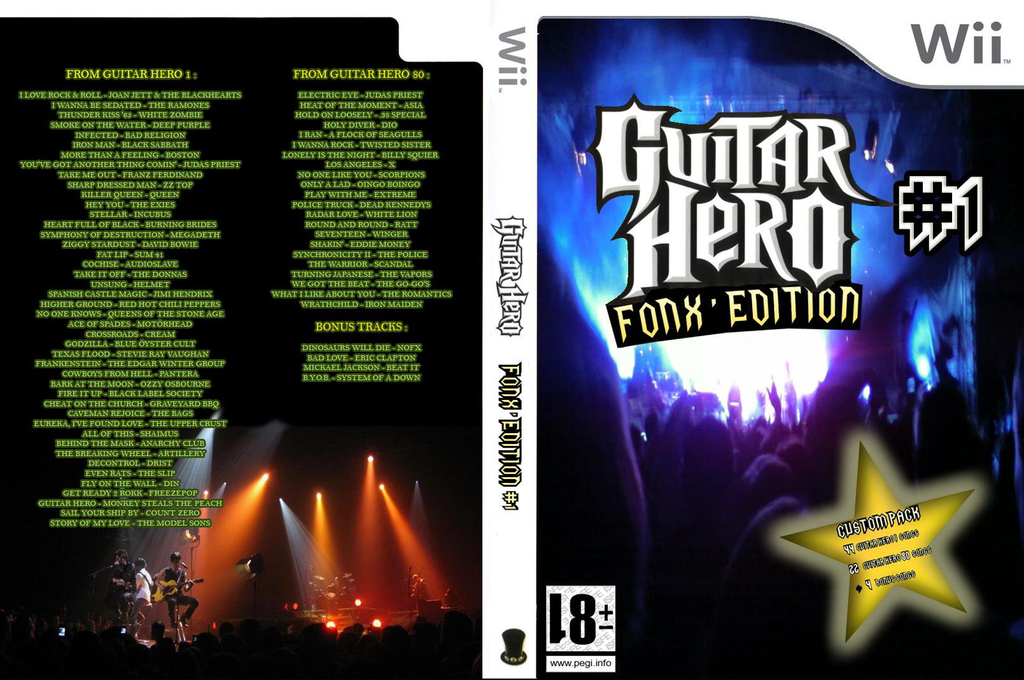 Guitar Hero III Custom : Fonx #1 Wii coverfullHQ (C3FP52)