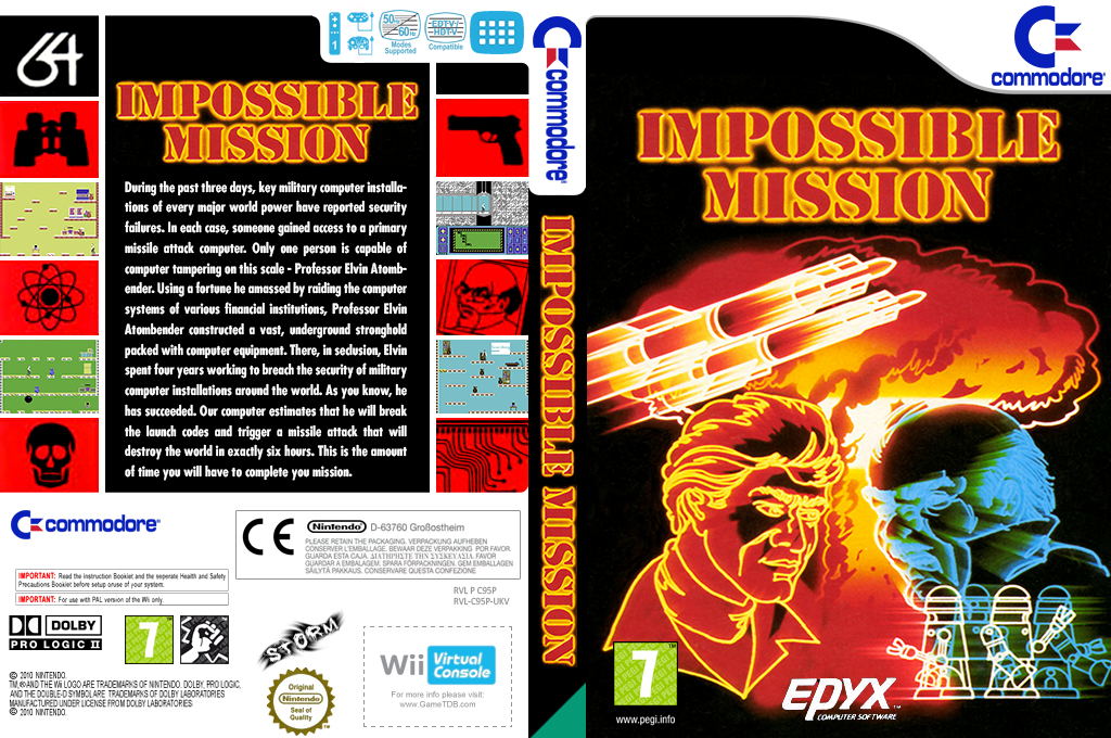 Impossible Mission Wii coverfullHQ (C95P)