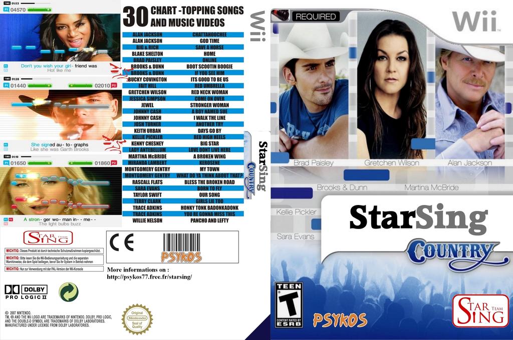 StarSing:Country v2.0 Wii coverfullHQ (CS1P00)