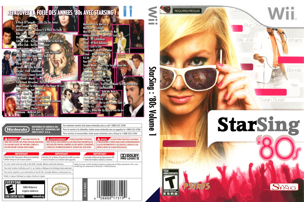 StarSing:'80s Volume 1 v2.0 Wii coverfullHQ (CS2PZZ)