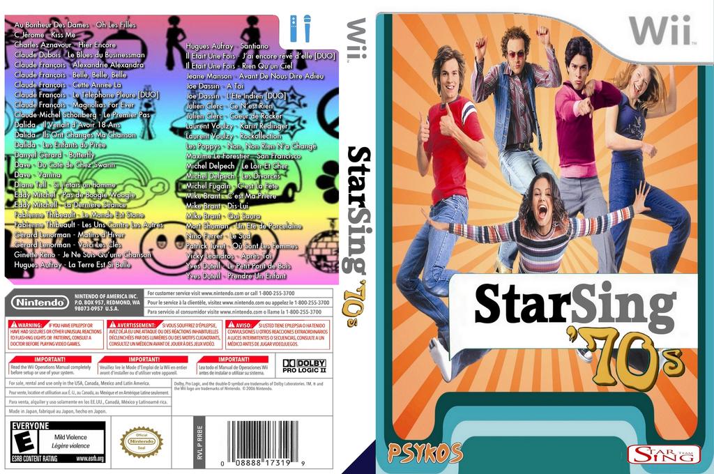 StarSing:'70s v2.2 Wii coverfullHQ (CS5P00)