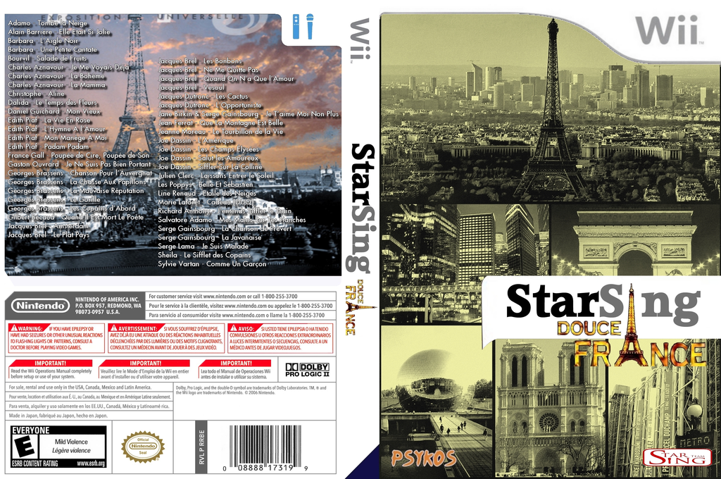 StarSing : Douce France v2.0 Wii coverfullHQ (CS6P00)