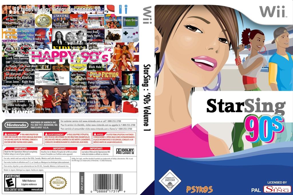 StarSing:'90s Volume 1 v2.0 Wii coverfullHQ (CS8P00)