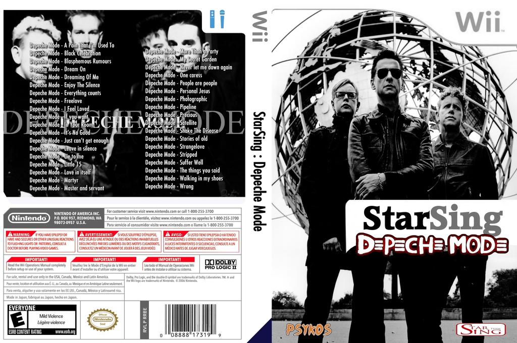 StarSing:Depeche Mode v2.0 Wii coverfullHQ (CSTP00)