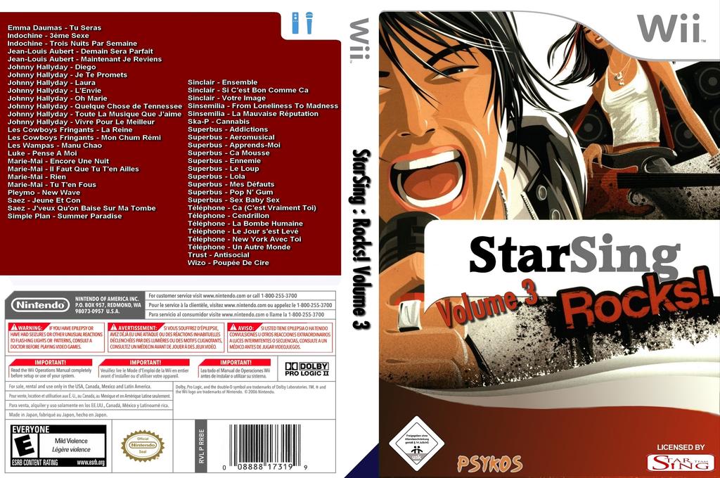 StarSing:Rocks! Volume 3 v2.0 Wii coverfullHQ (CSWP00)