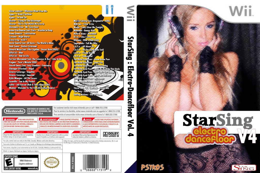 StarSing:Electro-Dancefloor Volume 4 v2.0 Wii coverfullHQ (CSYP00)
