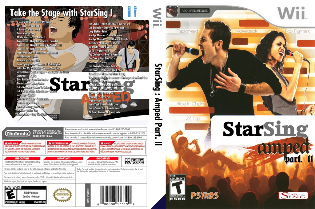 StarSing:Amped Part. II v2.1 Wii coverfullHQ (CT7P00)