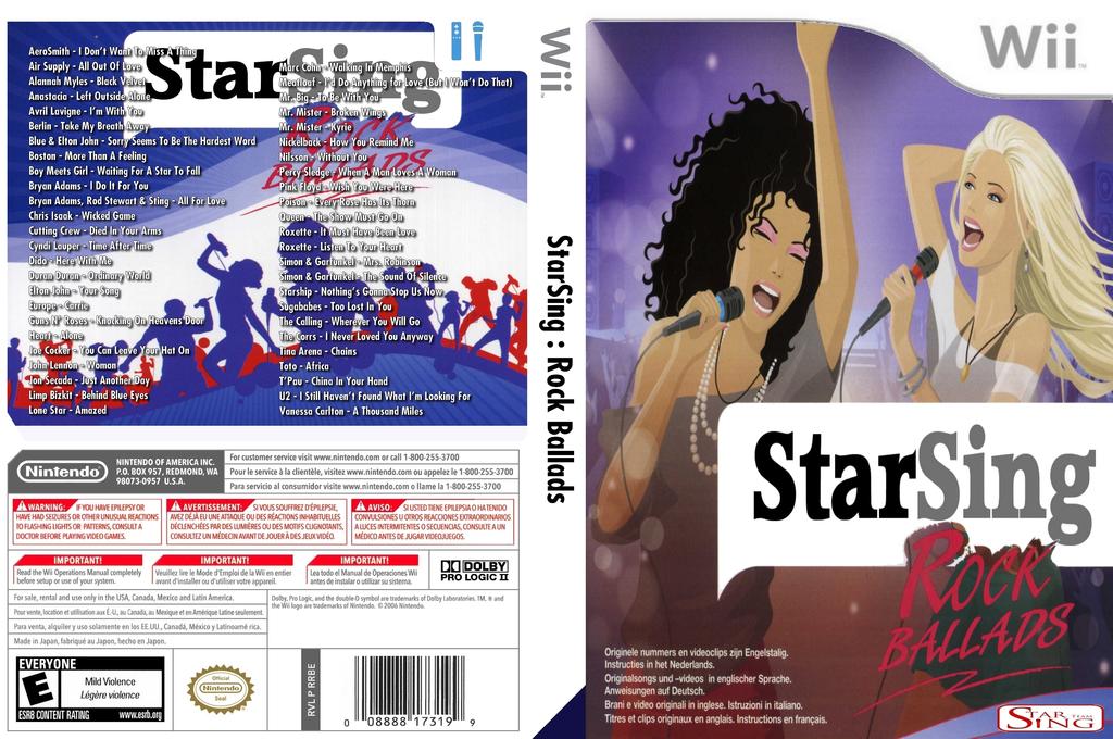 StarSing:Rock Ballads v2.0 Wii coverfullHQ (CTFP00)
