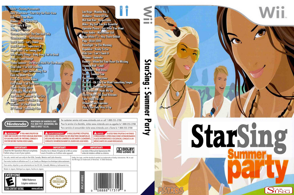 StarSing : Summer Party v2.0 Wii coverfullHQ (CTHP00)