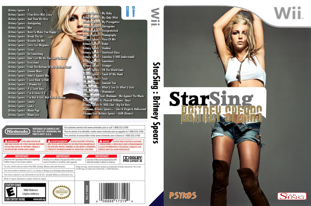 StarSing:Britney Spears v2.0 Wii coverfullHQ (CTLP00)