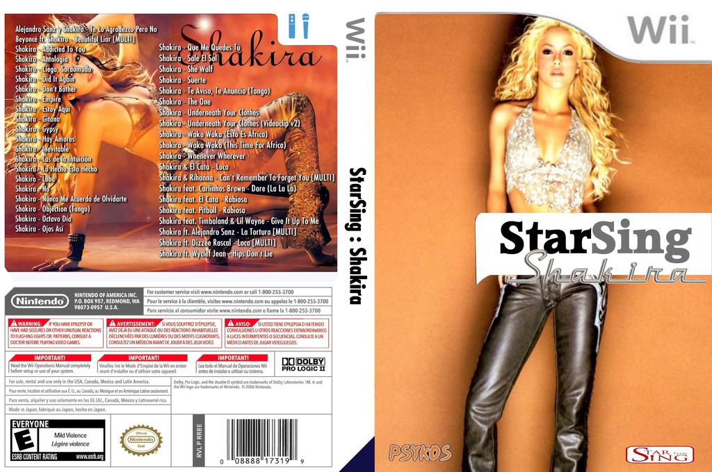 StarSing:Shakira v1.2 Wii coverfullHQ (CTMP00)