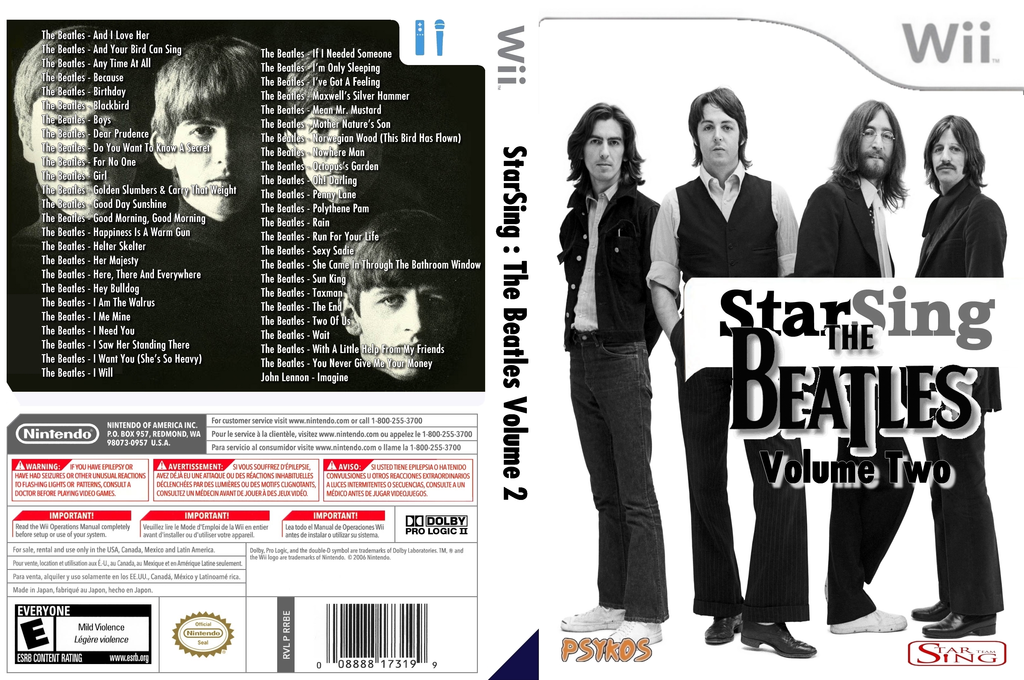 StarSing : The Beatles Volume 2 v2.1 Wii coverfullHQ (CTOP00)