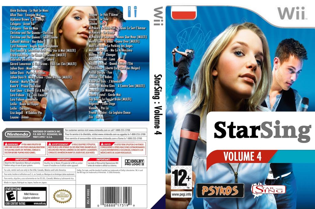 StarSing:Volume 4 v1.1 Wii coverfullHQ (CU2P00)