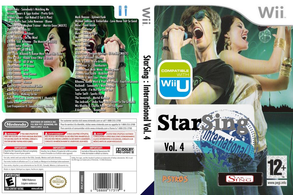 StarSing:International Volume 4 v1.0 Wii coverfullHQ (CU5P00)