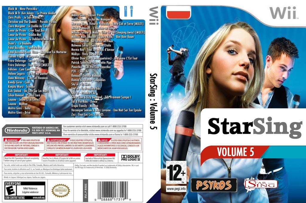 StarSing:Volume 5 v1.0 Wii coverfullHQ (CU6P00)