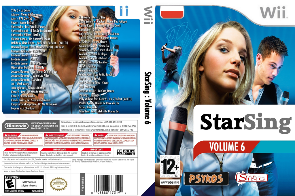 StarSing:Volume 6 v1.0 Wii coverfullHQ (CU8P00)