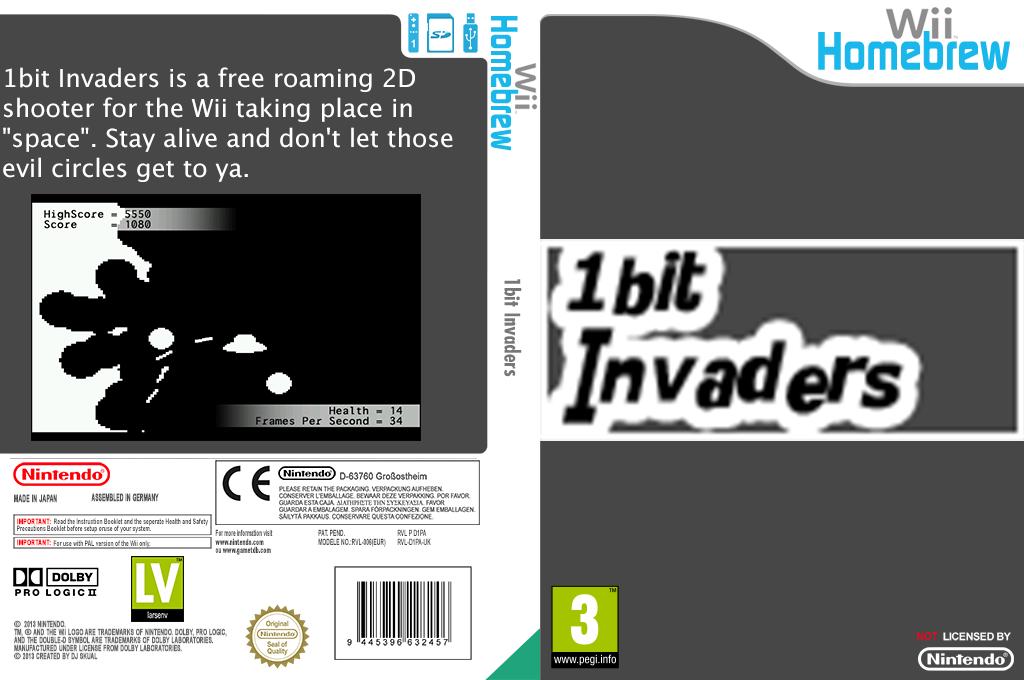 1bit Invaders Wii coverfullHQ (D1PA)