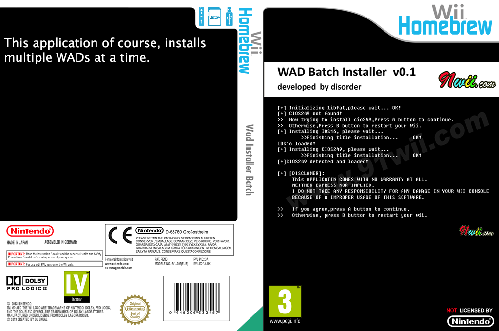 WAD Batch Installer Wii coverfullHQ (D2GA)