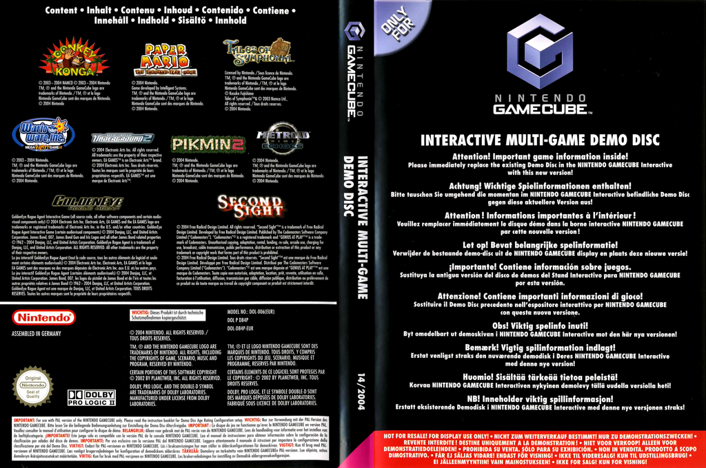 Interactive Multi-Game Demo Disc - November 2004 Wii coverfullHQ (D84P01)