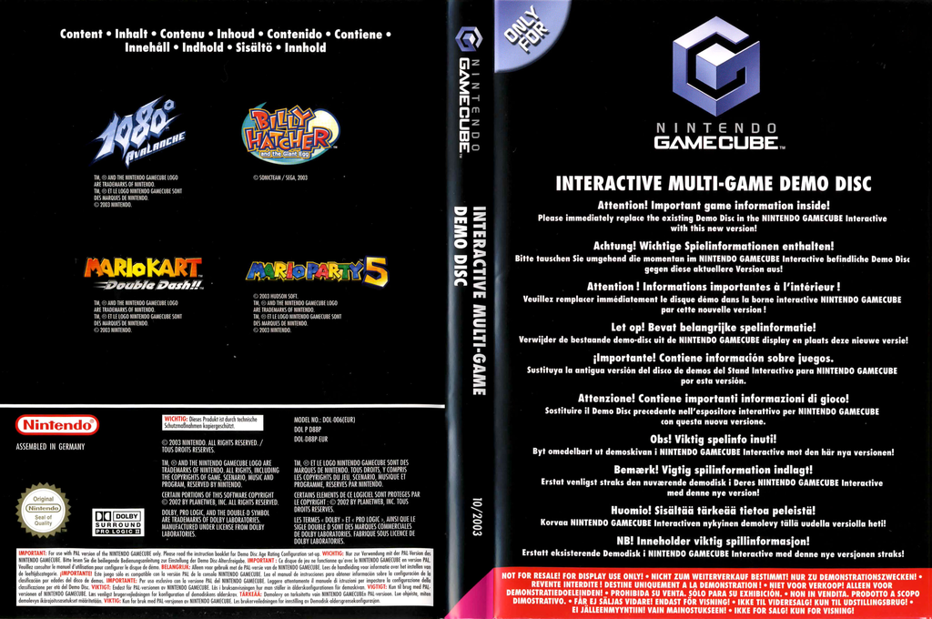 Interactive Multi-Game Demo Disc - November 2003 Wii coverfullHQ (D88P01)