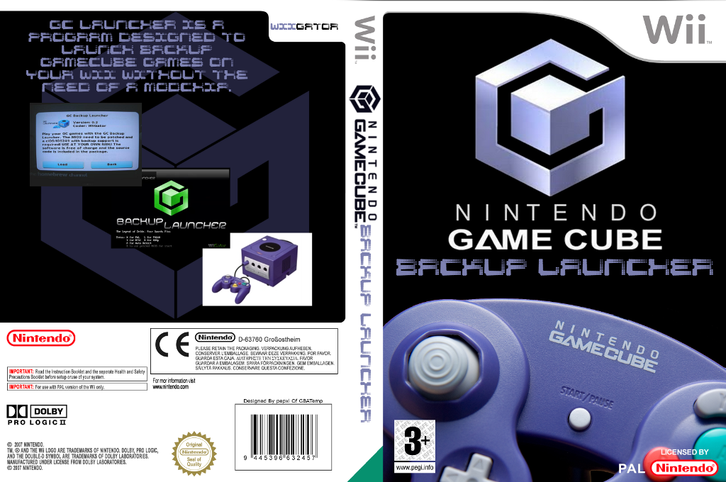 GameCube Backup Launcher Wii coverfullHQ (DGCA)