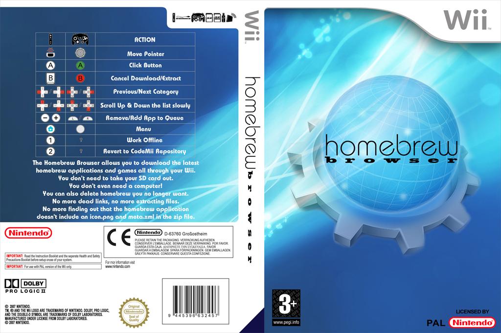 Homebrew Browser Wii coverfullHQ (DHBA)
